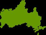山口県地図の無料イラストフリー素材
