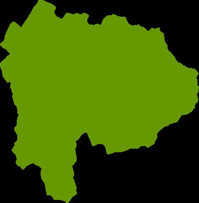山梨県地図の無料イラストフリー素材