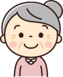 かわいいおばあちゃん(高齢者・お年寄りの女性)のイラスト