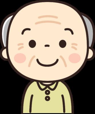 かわいいおじいちゃん(高齢者・お年寄りの男性)のイラスト