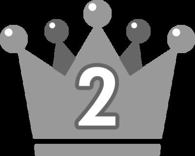王冠のランキング・順位イラスト素材(2位)