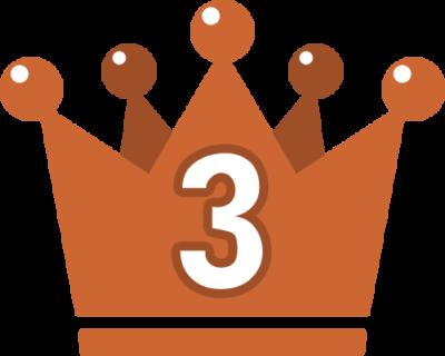 王冠のランキング・順位イラスト素材(3位)