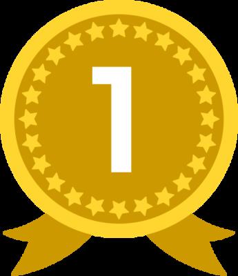 金メダル(1位)のランキング・順位イラスト素材