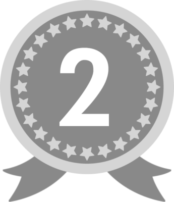 銀メダル(2位)のランキング・順位イラスト素材