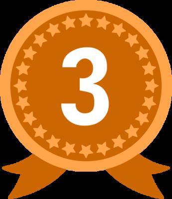 銅メダル(3位)のランキング・順位イラスト素材