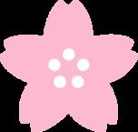 桜の花のイラスト(薄いピンク色)