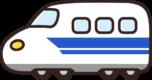 かわいい新幹線のイラスト