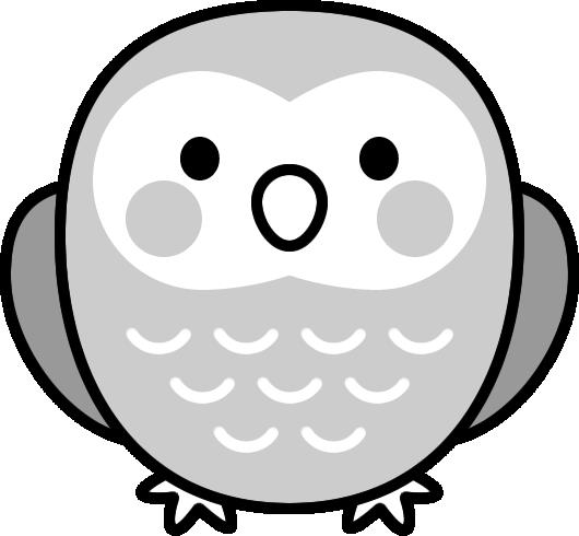 可愛いフクロウの白黒イラスト イラストストック