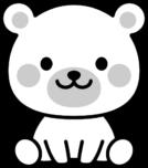 可愛いクマの白黒イラスト