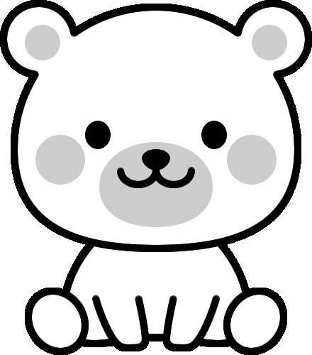 可愛いクマの白黒イラスト イラストストック