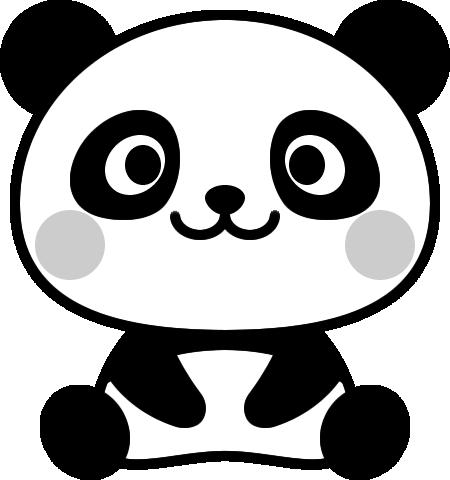 可愛いパンダの白黒イラスト イラストストック