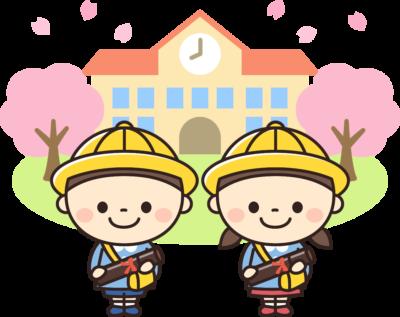 卒園する保育園児・幼稚園児のイラスト