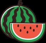 西瓜(すいか)のイラスト