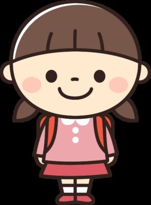 かわいい小学生の女の子のイラスト