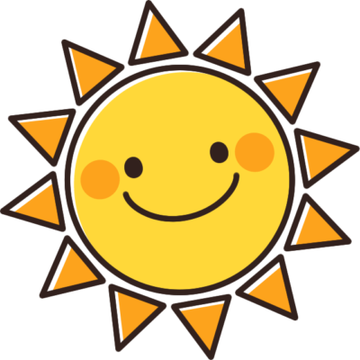 かわいい太陽(おひさま)のイラスト