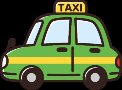 かわいいタクシーのイラスト