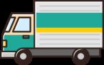 宅配トラックのイラスト(緑)