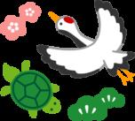 鶴亀のイラスト