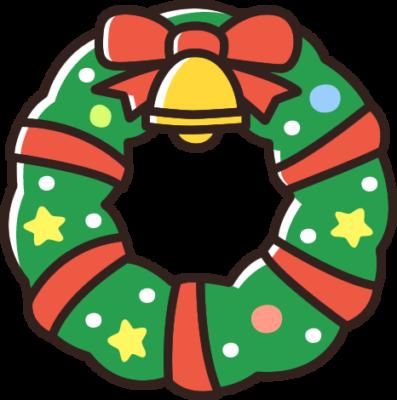 クリスマスリースのイラスト