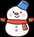 かわいい雪だるまのイラスト